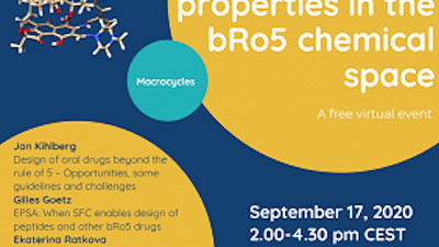 Free online event on Permeability, solubility and physchem properties in the bRo5
